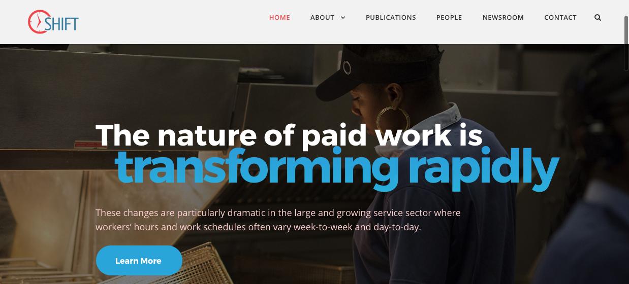 Home page du Shift Project