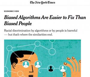 Une de la tribune de Sendhil Mullainathan pour le New York Times