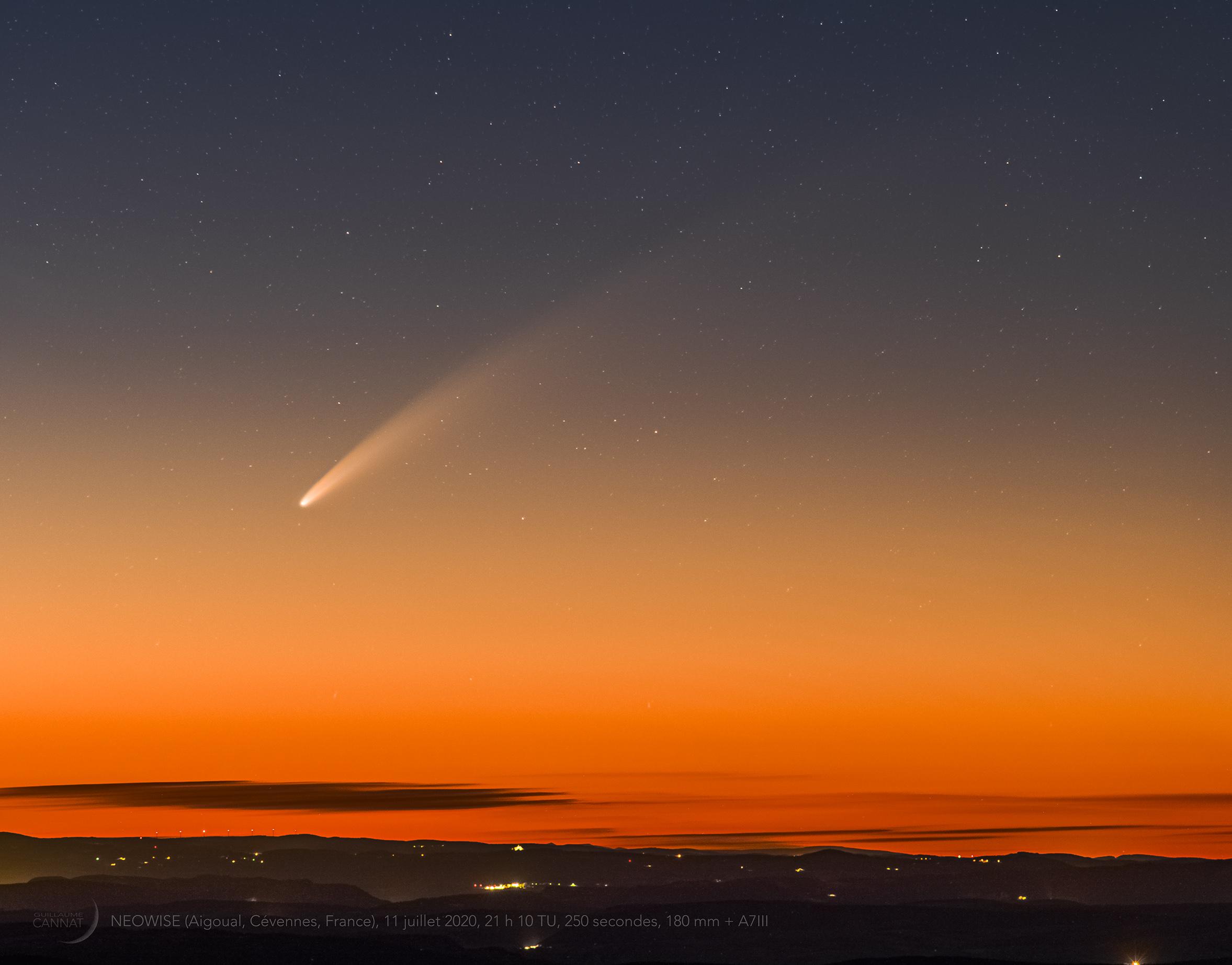 Une vidéo de la plus belle comète visible en France depuis plus de vingt ans